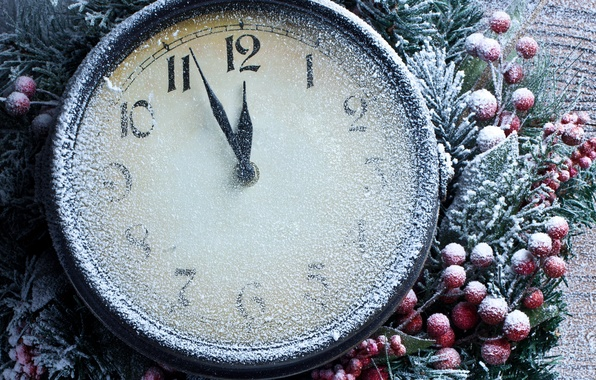Picture snow, time, holiday, arrows, watch, new year