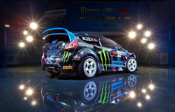 Picture Ford, Racing, Block, Fiesta, Ken, Division, Rear, Hoonigan, 2015, RX43