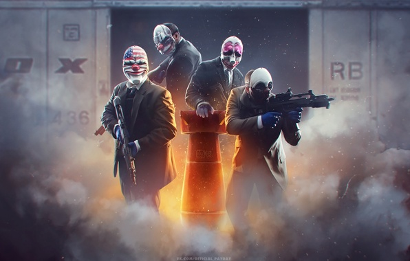 Picture Houston, Wolf, Dallas, Dallas, Houston, Overkill Software, Chains, PAYDAY 2, Of cheyns, Wolfe