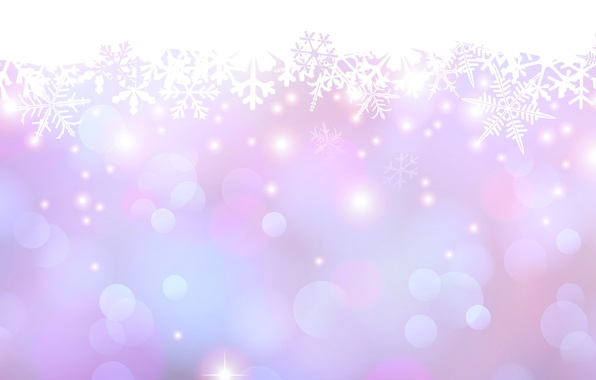 Picture snowflakes, glow, point, spot