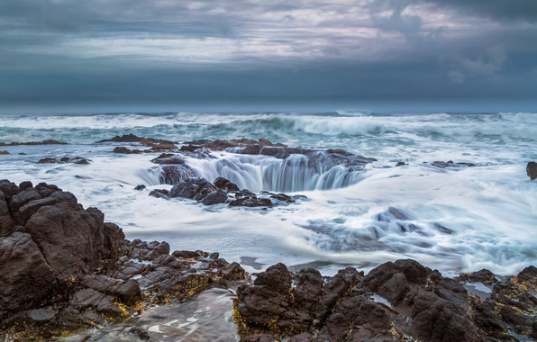 Picture the ocean, Oregon, well, Oregon, Pacific Ocean, The Pacific ocean, Cape Perpetua, The gates in …