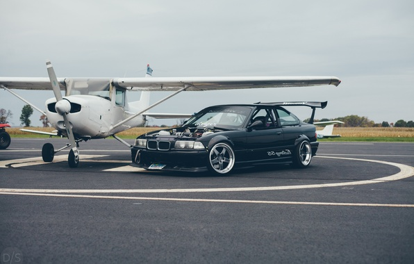 Picture car, tuning, BMW, the plane, tuning, bmw m3, stance