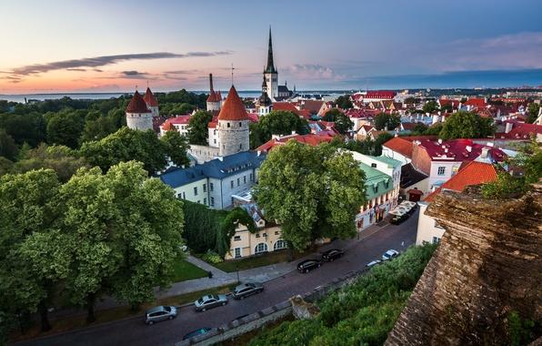 Picture road, building, Estonia, Tallinn, panorama, Tallinn, Estonia, Old Town