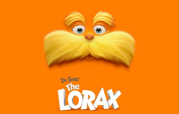 Picture mustache, cartoon, the lorax, The Lorax