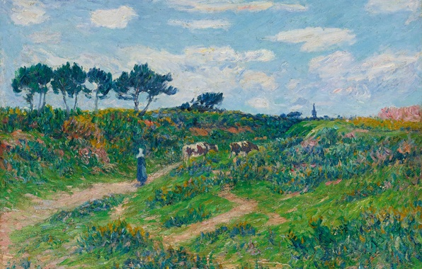 Picture landscape, picture, The road through the wasteland in Brittany, Henri Sea