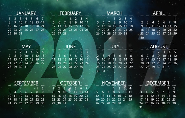 Picture space, stars, background, the universe, graphics, new year, vector, figures, calendar, year, date, starry sky, …