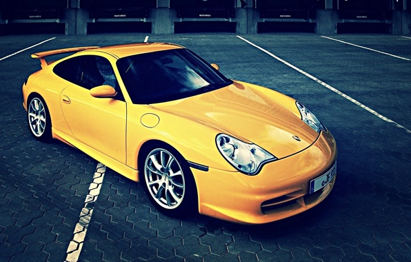 Picture 911, porsche, yellow