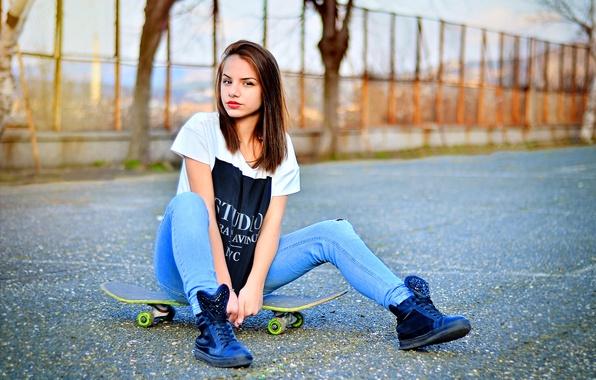 Photo wallpaper Skateboard, Bulgaria, Portrait, Model, Ikoseomer, Shooting, Skate,