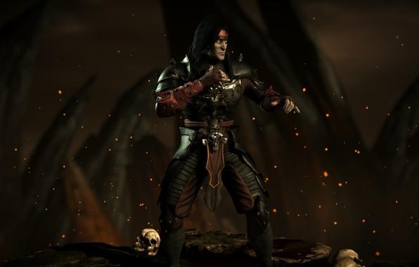 Photo Wallpaper Dark Liu Kang Mortal Kombat X Revenant Emperor Mkx