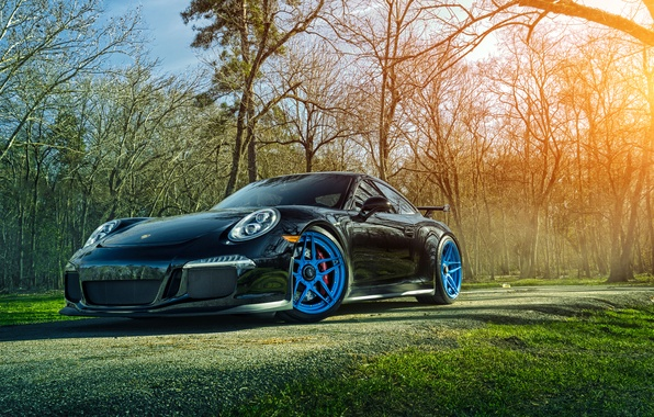 Picture 911, Porsche, Grass, Front, Sun, GT3, Forged, Custom, Wheels, ADV.1