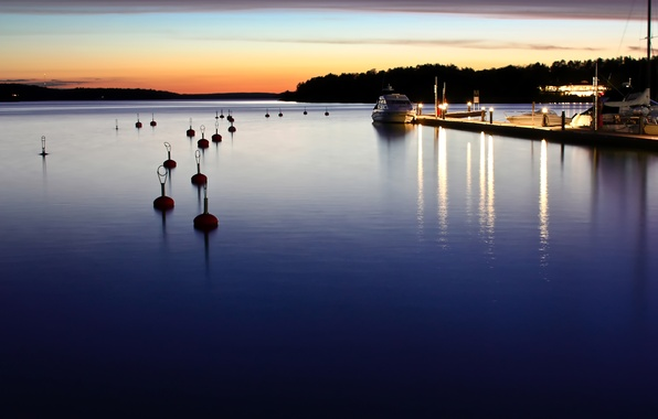 Picture sea, Marina, the evening, yacht, boat