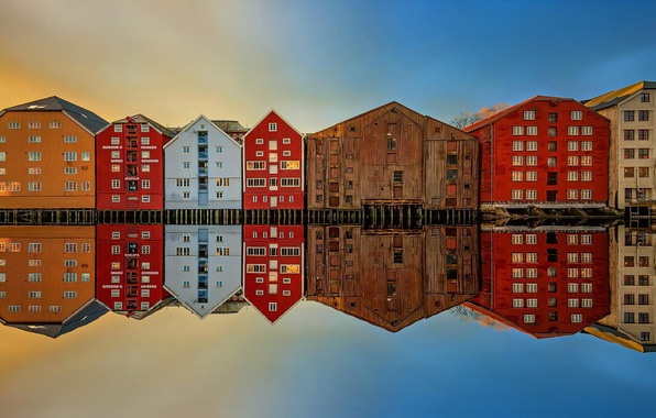 Picture reflection, home, Norway, Trondheim