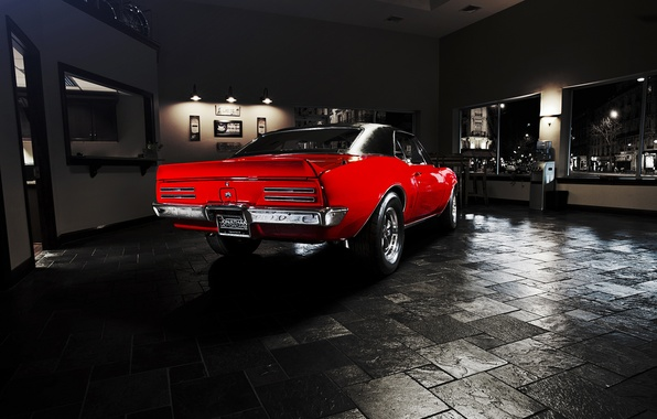 Picture red, muscle car, Pontiac, muscle car, 1967, Pontiac, Firebird, Firebird.