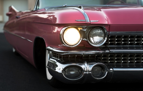 Picture retro, lights, convertible, 1959, Cadillac Convertible