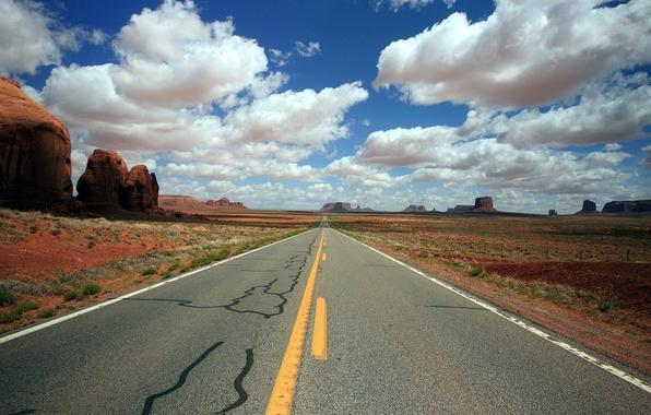 Picture road, landscape, United States, Utah, Goulding