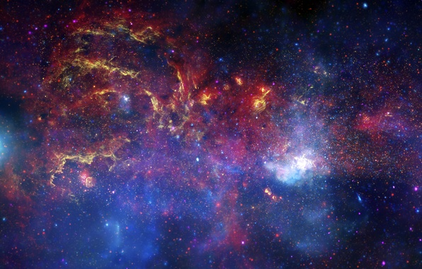 Picture Hubble, Galaxy, The milky way, telescope, center, Spitzer, Chandra