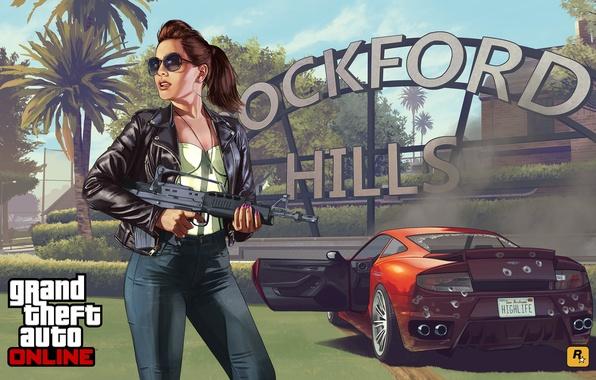 Picture girl, concept art, Grand Theft Auto V, gta online