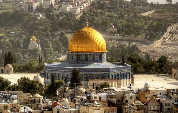 Picture landscape, home, temple, the dome, Israel, Jerusalem