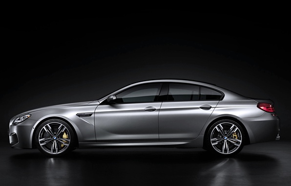 Picture Auto, BMW, Machine, Grey, BMW, Silver, Sedan, Gran Coupe, Side view