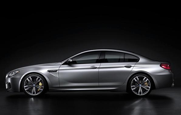 Picture Auto, BMW, Machine, Grey, BMW, Silver, Sedan, Gran Coupe, Side view
