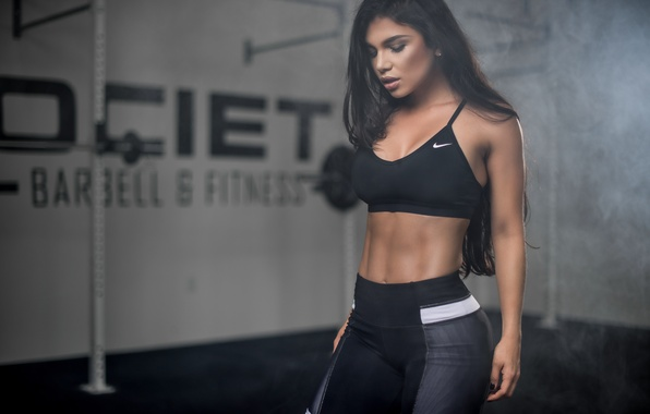 Picture girl, face, background, hair, figure, sports, Luz