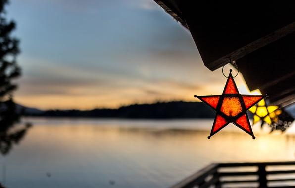 Picture nature, lake, stars