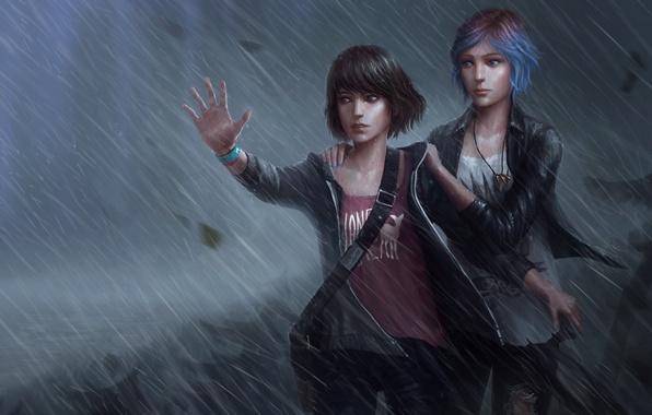 Picture Rain, The storm, Rain, Max, Price, Chloe, Chloe, Max, Life Is Strange, Caulfield, Caulfield, Price