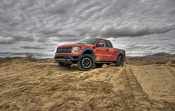Picture road, machine, dirt, Ford, auto wallpspers, ford f150 svt raptor