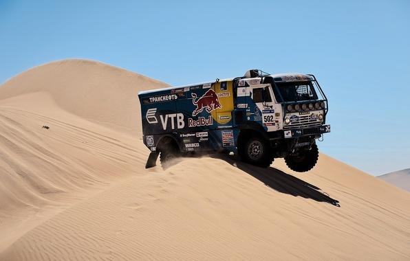 Picture desert, truck, rally, KAMAZ, kamaz, Paris-Dakar, KAMAZ-master