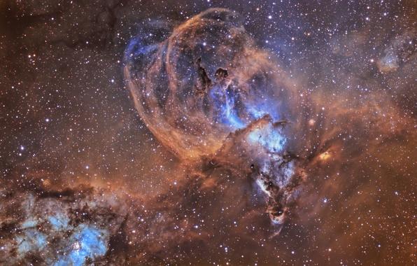 Picture stars, nebula, nebulae, Kiel, NGC 3576