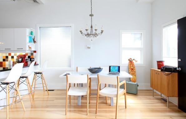 Picture table, furniture, Windows, chairs, interior, kitchen, chandelier, stand, bar