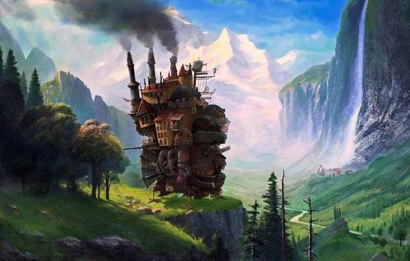 Wallpaper Art Hayao Miyazaki Howls Moving Castle Images For Desktop Section
