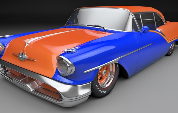 Picture rendering, coupe, Coupe, 1957, Oldsmobile, the Oldsmobile