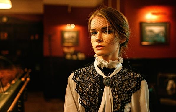 Picture girl, veil, based on the movie, George Chernyadev, Irina Regent, The Pride and Prejudice