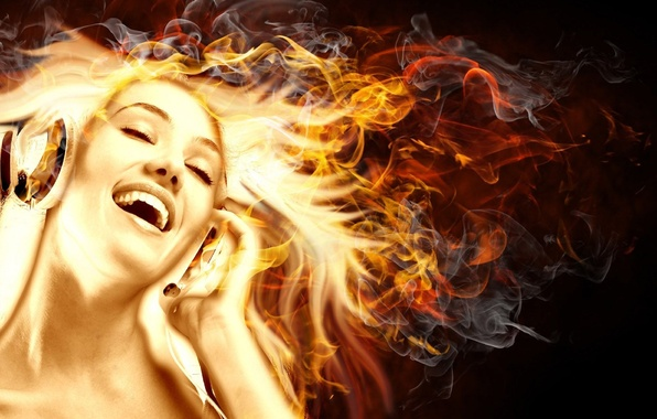 Picture music, Girl, Fire