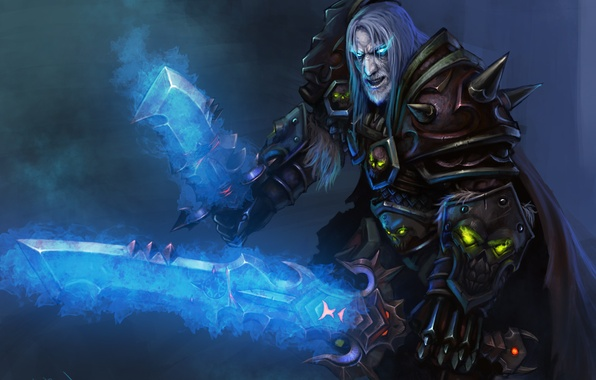 Picture look, weapons, sword, WoW, World of Warcraft, Death Knight, art, blade, Warcraft, death knight