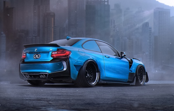 Picture BMW, Car, Blue, Body, Tuning, Future, Sport, Kit, by Khyzyl Saleem