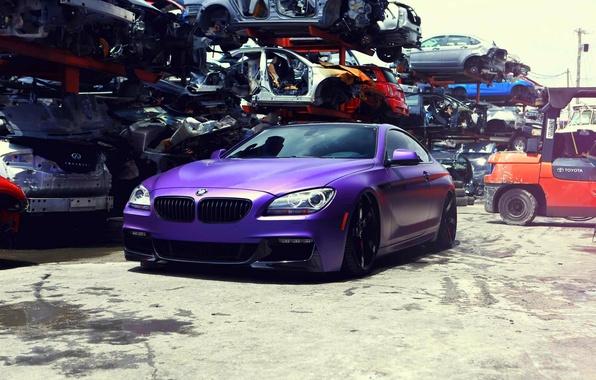 Picture BMW, vossen, 650i, F13, frontside
