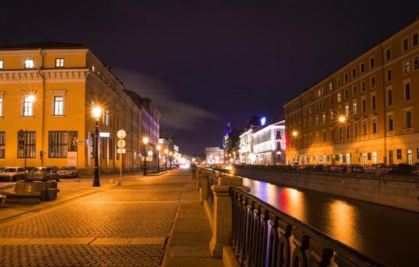 Picture night, Peter, Saint Petersburg, channel, Russia, Russia, SPb, St. Petersburg, spb, Griboedova