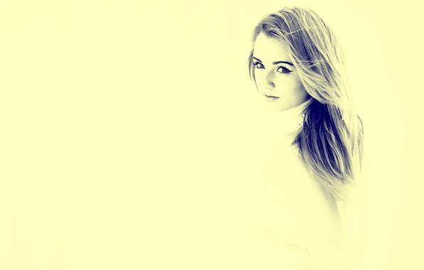 Picture background, portrait, freckles, Marlena