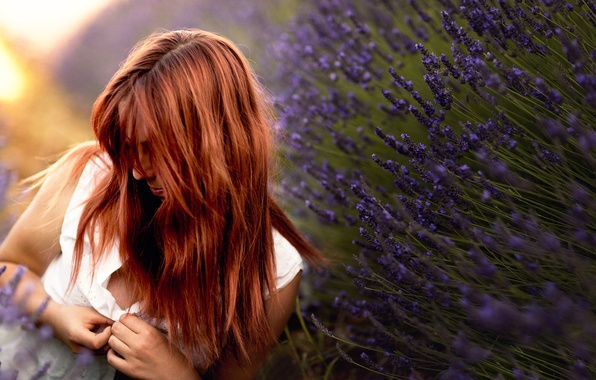 Picture girl, blouse, lavender, Studio Hors-champ, after love, Marie-Ange