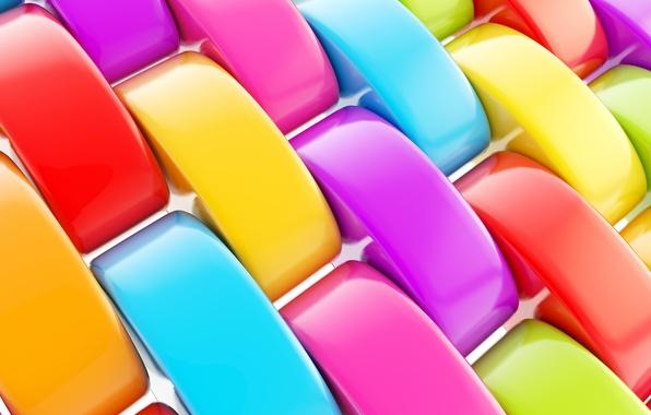 Picture plastic, glitter, different colors