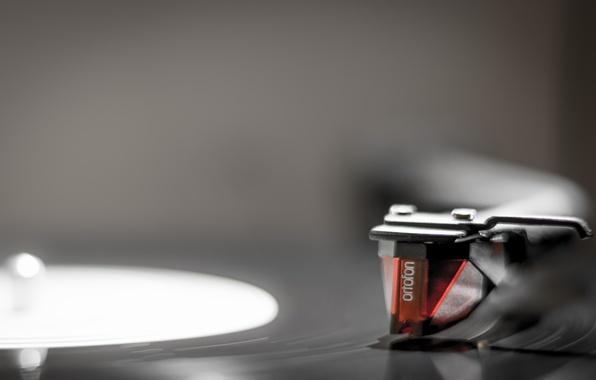 Picture macro, background, player, vinyl