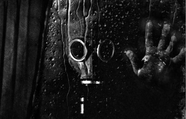 Picture Drops, Glass, Hand, Radiation, Gas mask, Stalker, S.T.A.L.K.E.R