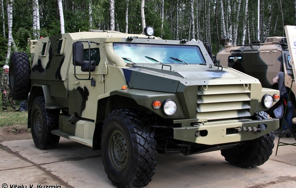Picture wolf, exhibition, armored car