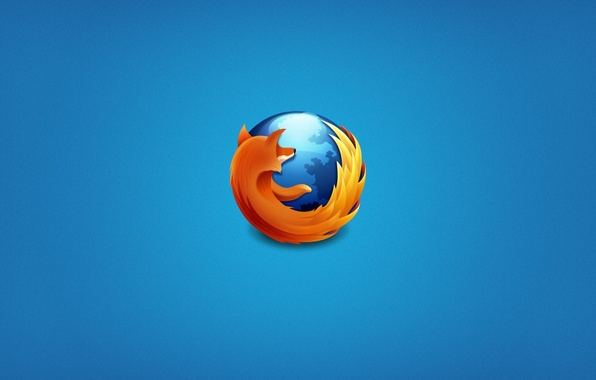 Picture browser, mozilla firefox, blue background