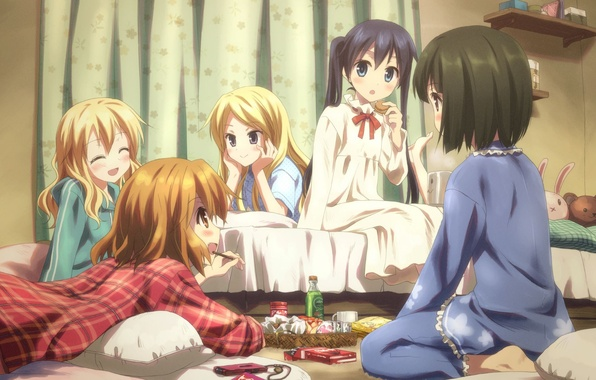 Picture room, girls, anime, friend