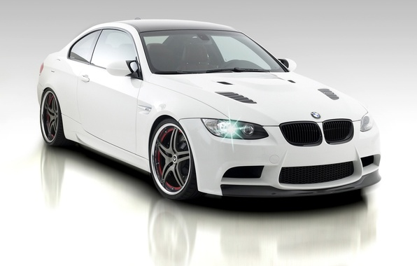 Picture background, BMW, white