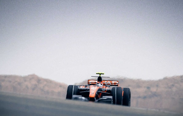 Picture road, auto, the sky, mountains, machine, sport, track, focus, cars, sportcar, formula1