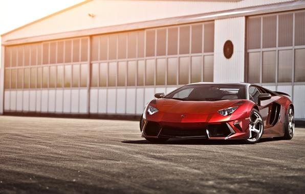 Picture red, Lamborghini, hangar, red, Lamborghini, LP700-4, Aventador, Lamborghini, aventador, Mansory, LB834